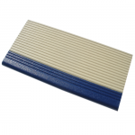 Pool tile 3136 ivory & dark blue ribbed nosing