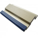 Pool Tile 5810 – ivory & dark blue ribbed finger grip with grate support