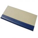 Pool tile 3136 ivory & dark blue ribbed nosing